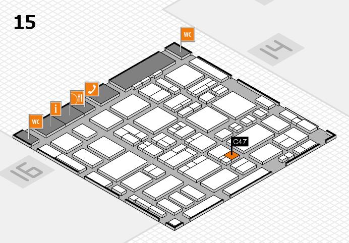 MEDICA 2016 hall map (Hall 15): stand C47