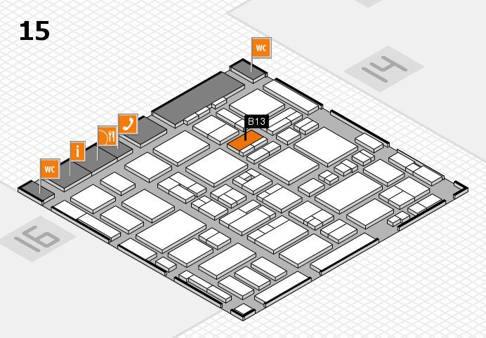 MEDICA 2016 hall map (Hall 15): stand B13