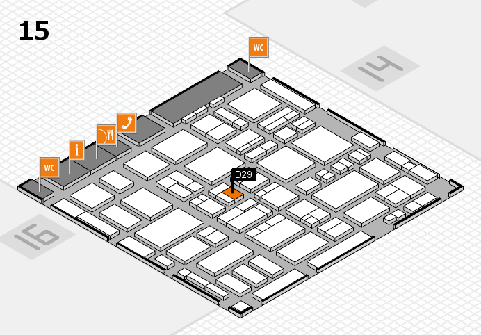 MEDICA 2016 hall map (Hall 15): stand D29