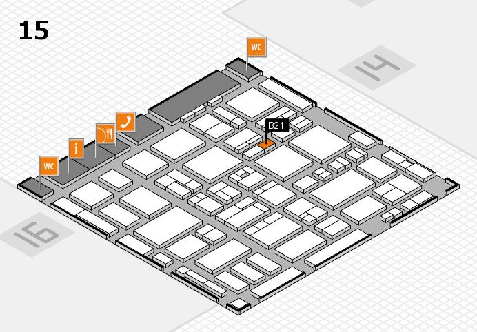 MEDICA 2016 hall map (Hall 15): stand B21