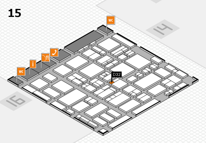 MEDICA 2016 hall map (Hall 15): stand D32