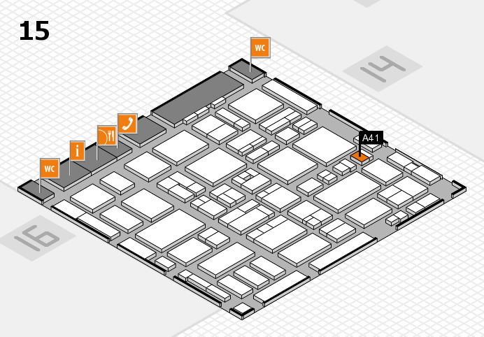 MEDICA 2016 hall map (Hall 15): stand A41