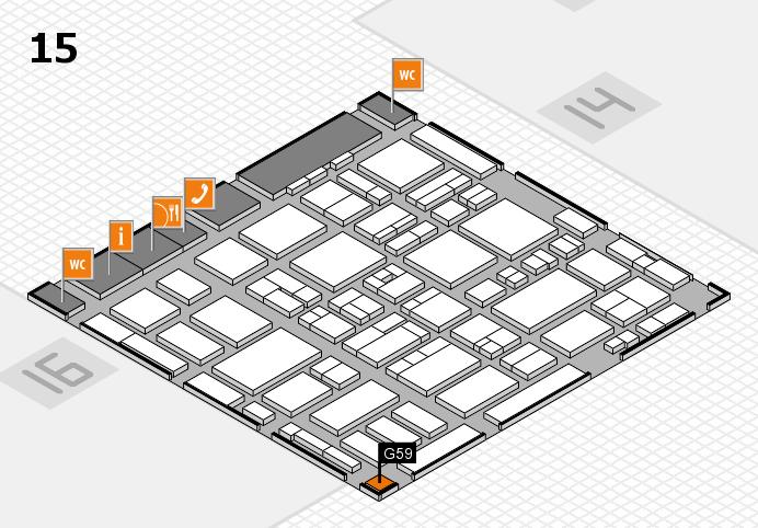 MEDICA 2016 hall map (Hall 15): stand G59