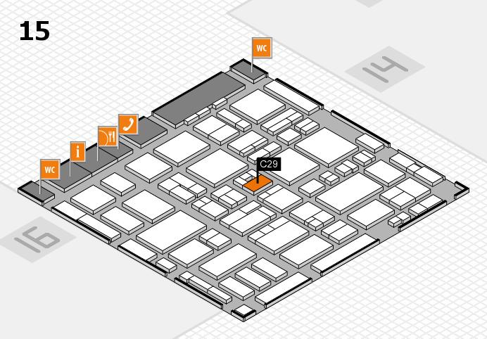 MEDICA 2016 hall map (Hall 15): stand C29