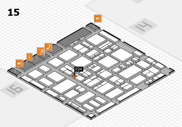 MEDICA 2016 hall map (Hall 15): stand E24
