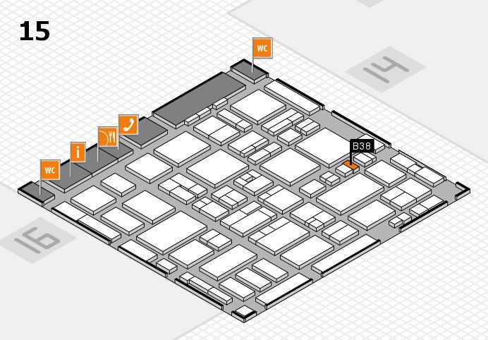 MEDICA 2016 hall map (Hall 15): stand B38