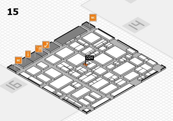 MEDICA 2016 hall map (Hall 15): stand D24