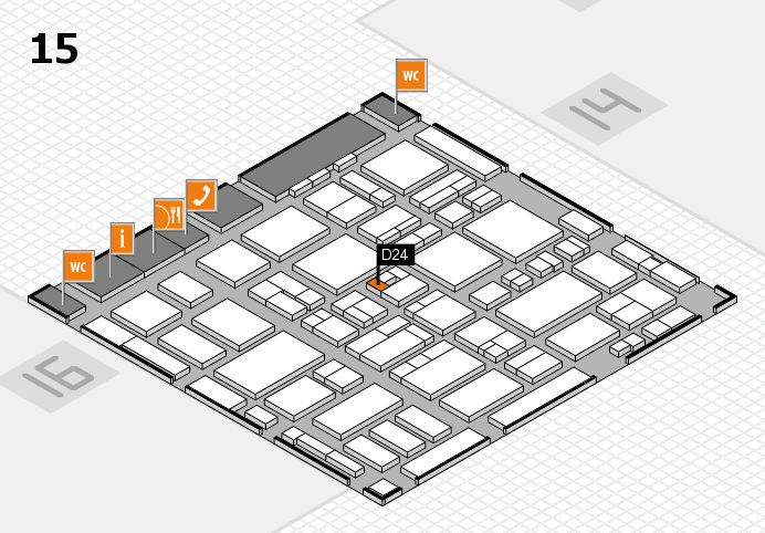 MEDICA 2016 hall map (Hall 15): stand D24