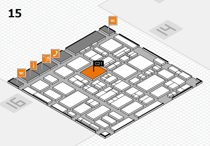 MEDICA 2016 hall map (Hall 15): stand C21