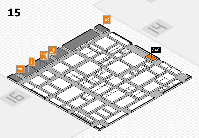 MEDICA 2016 hall map (Hall 15): stand A40