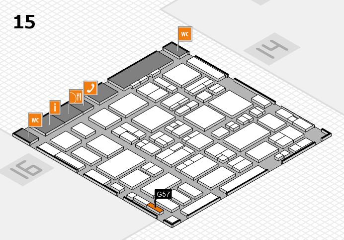 MEDICA 2016 hall map (Hall 15): stand G57