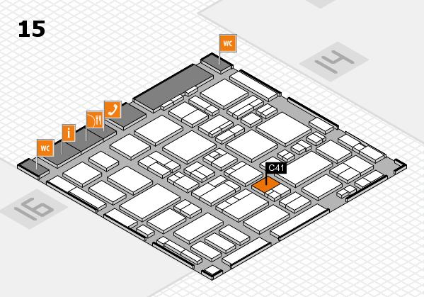 MEDICA 2016 hall map (Hall 15): stand C41