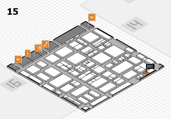 MEDICA 2016 hall map (Hall 15): stand B60