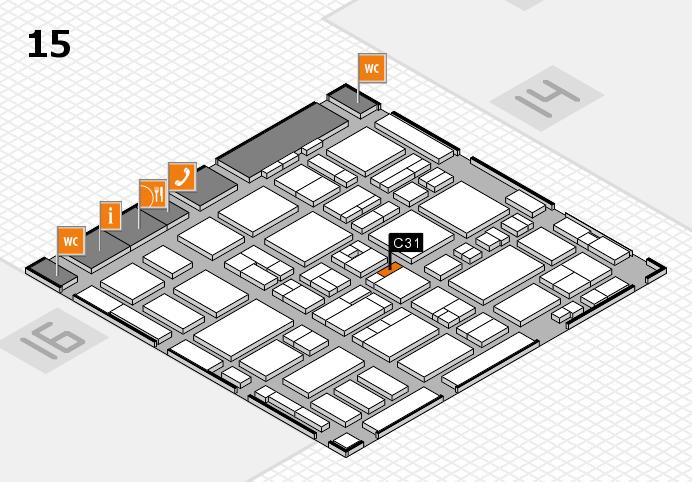 MEDICA 2016 hall map (Hall 15): stand C31