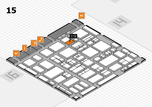 MEDICA 2016 hall map (Hall 15): stand C12