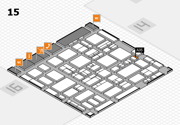 MEDICA 2016 hall map (Hall 15): stand A35