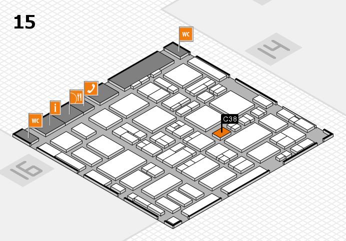 MEDICA 2016 hall map (Hall 15): stand C38