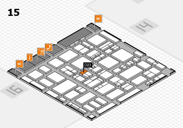 MEDICA 2016 hall map (Hall 15): stand D23