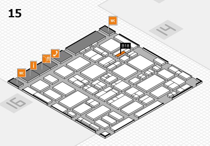 MEDICA 2016 hall map (Hall 15): stand B18