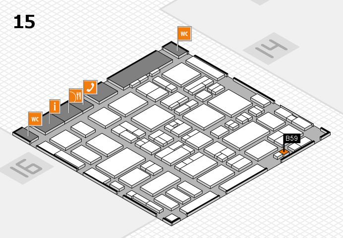 MEDICA 2016 hall map (Hall 15): stand B59