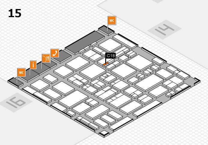 MEDICA 2016 hall map (Hall 15): stand C18