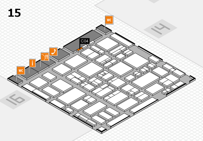 MEDICA 2016 hall map (Hall 15): stand C04