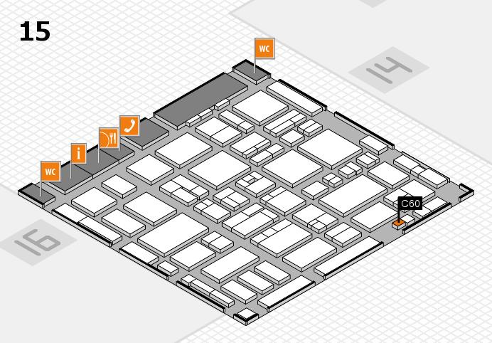 MEDICA 2016 hall map (Hall 15): stand C60
