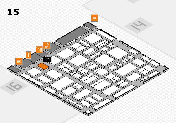 MEDICA 2016 hall map (Hall 15): stand E05