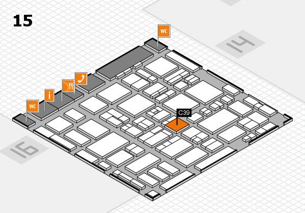 MEDICA 2016 hall map (Hall 15): stand C39