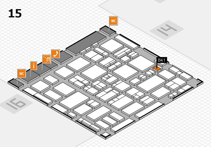 MEDICA 2016 hall map (Hall 15): stand B41