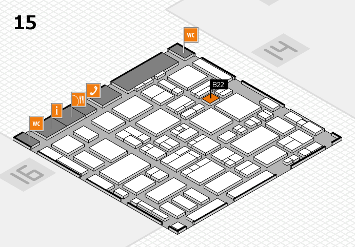 MEDICA 2016 hall map (Hall 15): stand B22