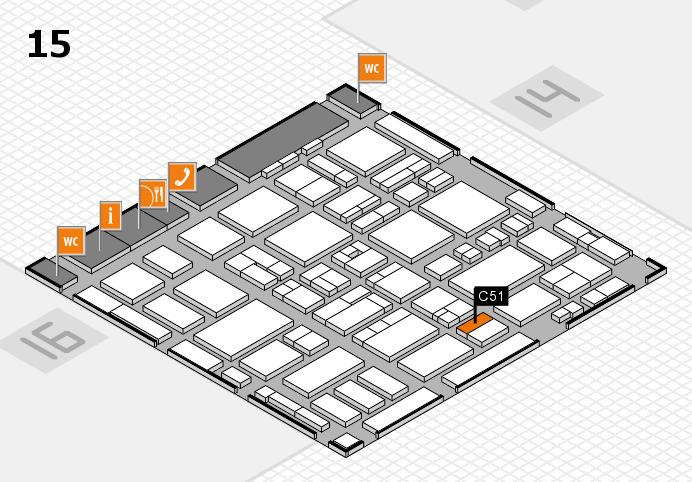 MEDICA 2016 hall map (Hall 15): stand C51