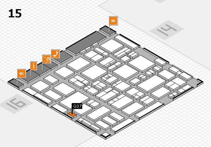 MEDICA 2016 hall map (Hall 15): stand G37