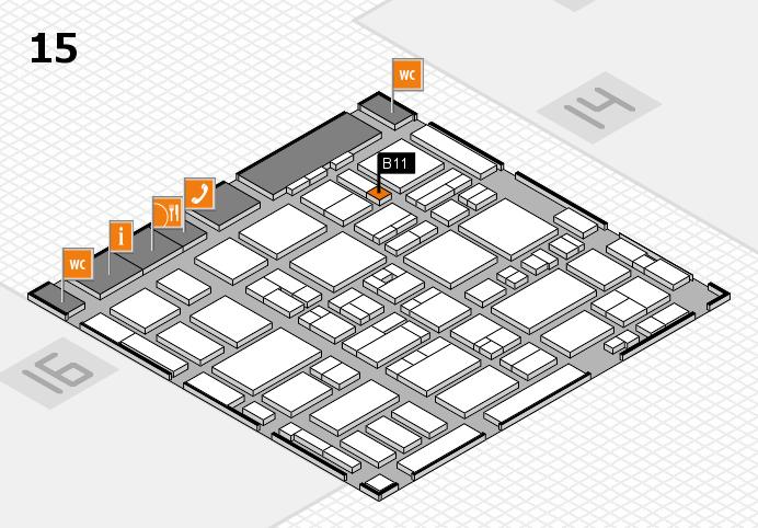 MEDICA 2016 hall map (Hall 15): stand B11