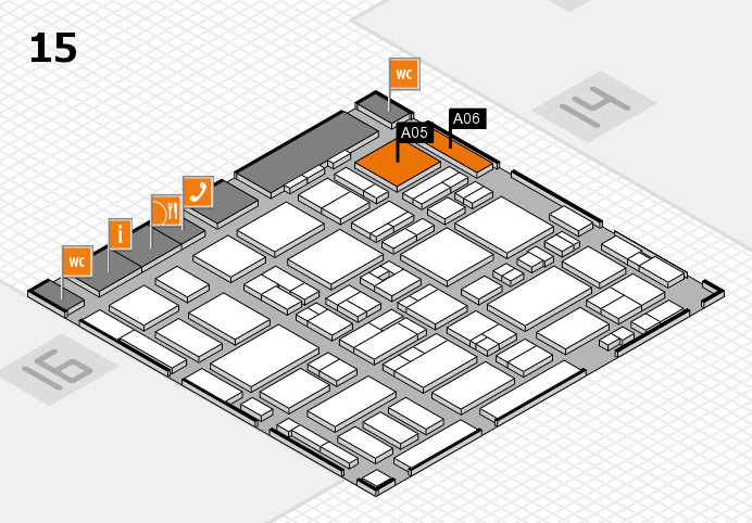 MEDICA 2016 hall map (Hall 15): stand A05, stand A06