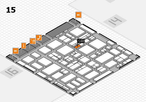 MEDICA 2016 hall map (Hall 15): stand C22