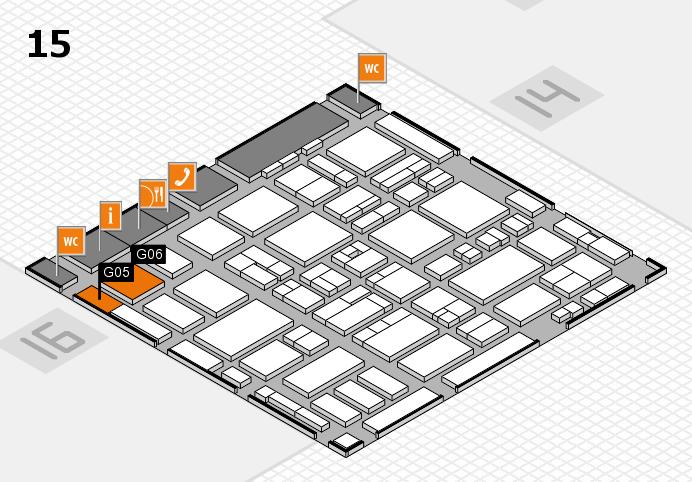 MEDICA 2016 hall map (Hall 15): stand G05, stand G06