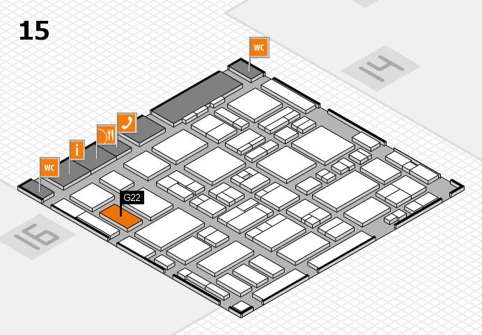 MEDICA 2016 hall map (Hall 15): stand G22