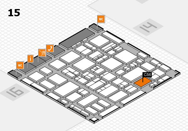 MEDICA 2016 hall map (Hall 15): stand C56
