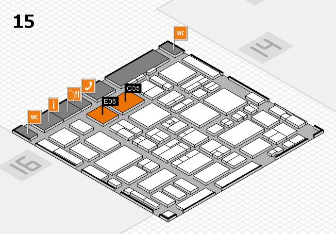 MEDICA 2016 hall map (Hall 15): stand C05, stand E06
