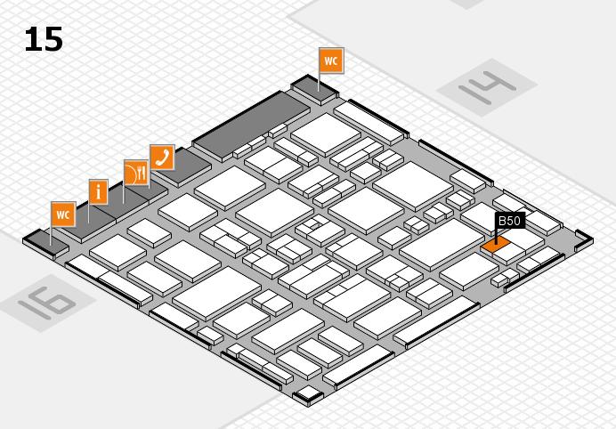 MEDICA 2016 hall map (Hall 15): stand B50
