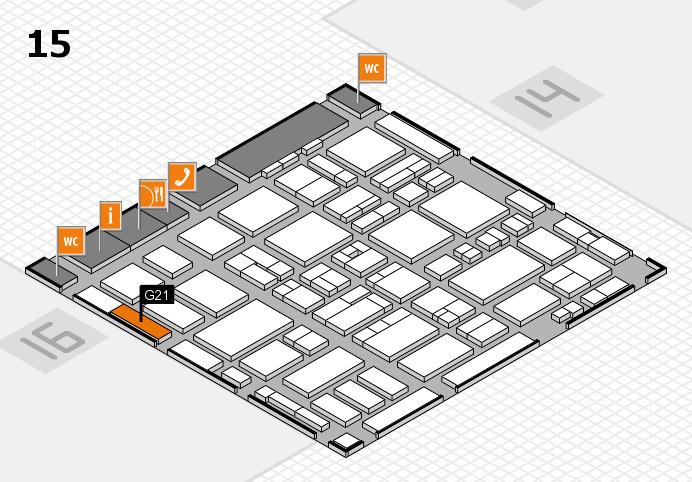 MEDICA 2016 hall map (Hall 15): stand G21