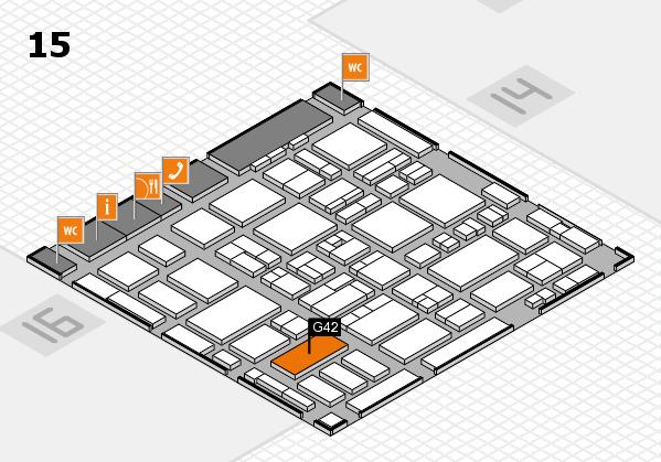 MEDICA 2016 Hallenplan (Halle 15): Stand G42