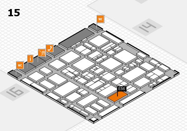 MEDICA 2016 hall map (Hall 15): stand E56