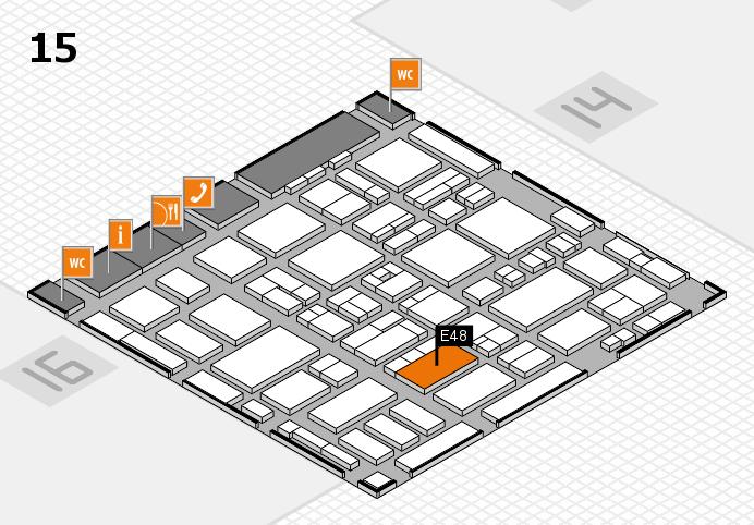 MEDICA 2016 hall map (Hall 15): stand E48