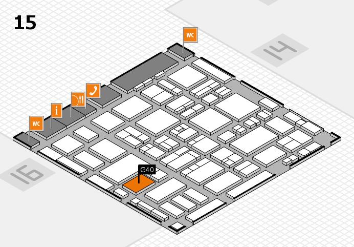 MEDICA 2016 hall map (Hall 15): stand G40