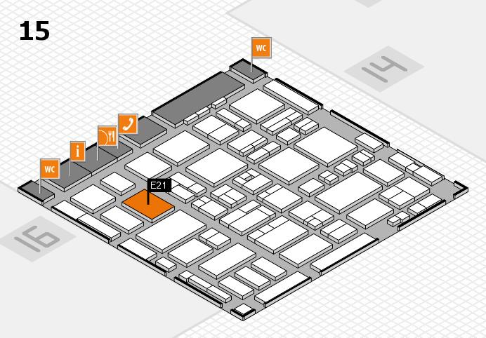 MEDICA 2016 hall map (Hall 15): stand E21