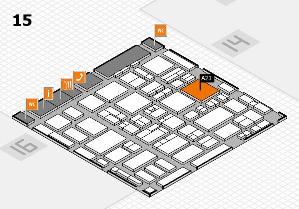 MEDICA 2016 Hallenplan (Halle 15): Stand A23