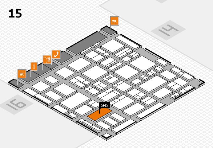 MEDICA 2016 hall map (Hall 15): stand G42
