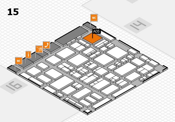MEDICA 2016 hall map (Hall 15): stand A05